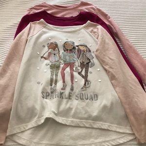 Bundle of 3 Girls long sleeve shirts